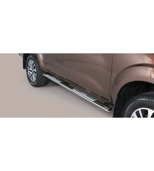 Navara NP 300 16- Oval Design Side Protections Inox - DSP/400/IX - Sidebar / Sidestep - Unspecified - Verstralershop