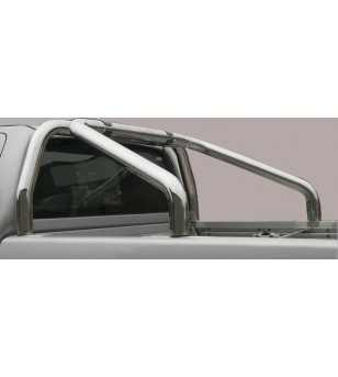Navara NP 300 16- Roll Bar on Tonneau Inox (2 pipes version) - RLSS/2400/IX - Rollbars / Sportsbars - Unspecified - Verstralersh