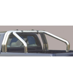 Navara NP 300 16- Roll Bar on Tonneau Inox (3 pipes version) - RLSS/3400/IX - Rollbars / Sportsbars - Verstralershop