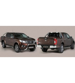 Navara NP 300 16-,  Roll Bar Mark on Tonneau Inox (3 pipes version)