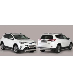 RAV4 16- Oval grand Pedana (Oval Side Bars with steps) Inox