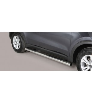 Sportage 16- Grand Pedana (Side Bars with steps) Inox - GP/403/IX - Sidebar / Sidestep - Unspecified