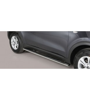 Sportage 16- Oval grand Pedana (Oval Side Bars with steps) Inox - GPO/403/IX - Sidebar / Sidestep - Unspecified