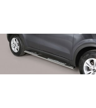 Sportage 16- Oval Design Side Protections Inox - DSP/403/IX - Sidebar / Sidestep - Unspecified