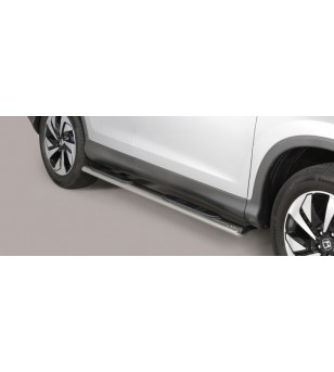 CR-V 16- Oval grand Pedana (Oval Side Bars with steps) Inox - GPO/405/IX - Sidebar / Sidestep - Unspecified