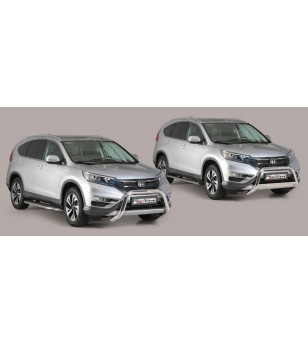 CR-V 16- Oval Design Side Protections Inox