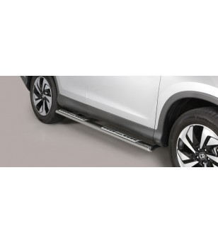 Sportage 16- Oval Design Side Protections Inox