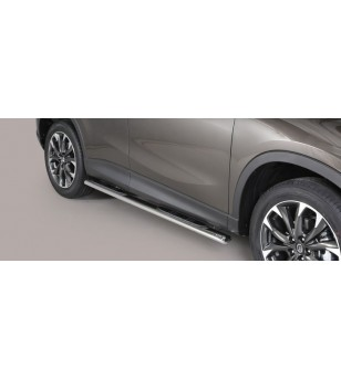 CX-5 15- Oval grand Pedana (Oval Side Bars with steps) Inox - GPO/310/IX - Sidebar / Sidestep - Verstralershop
