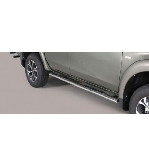 Ranger D.C. 16- Oval grand Pedana (Oval Side Bars with steps) Inox