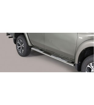 Fullback D.C. 16- Oval Design Side Protections Inox - DSP/406/IX - Sidebar / Sidestep - Unspecified