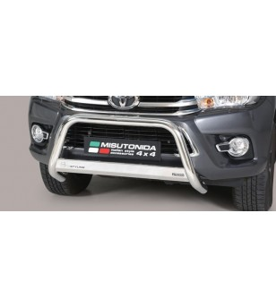TOYOTA HILUX 16+ EC Approved Medium Bar Inox - EC/MED/410/IX - Bullbar / Lightbar / Bumperbar - Unspecified