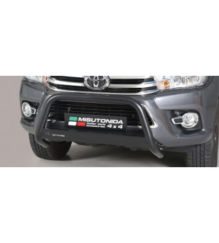Hilux D.C. 16- EC Approved Medium Bar Black Coated - EC/MED/410/PL - Bullbar / Lightbar / Bumperbar - Unspecified