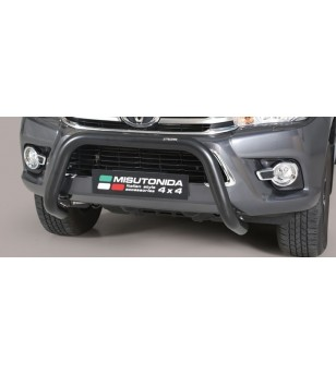 TOYOTA HILUX 16+ EC Approved Super Bar Inox Black Coated - EC/SB/410/PL - Bullbar / Lightbar / Bumperbar - Unspecified