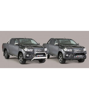 TOYOTA HILUX 16+ Double Bended Rear Protection Inox