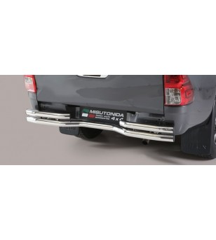 TOYOTA HILUX 16+ Double Bended Rear Protection Inox - DBR/410/IX - Rearbar / Rearstep - Unspecified