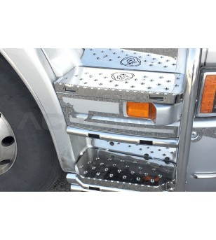 R-series Steps - Griffin (set van 4) - 027STR - RVS / Chrome accessoires - Acitoinox - Italian series - Verstralershop