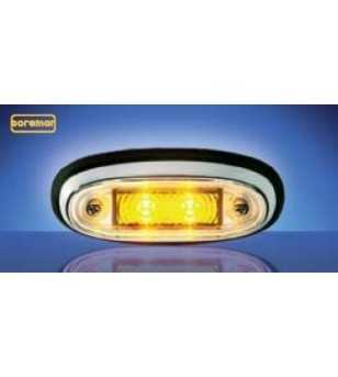 3105 - LED Markeringslamp Chroom Amber