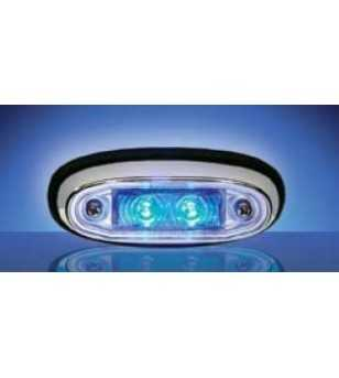 3105 - LED Markeringslamp Chroom Blauw