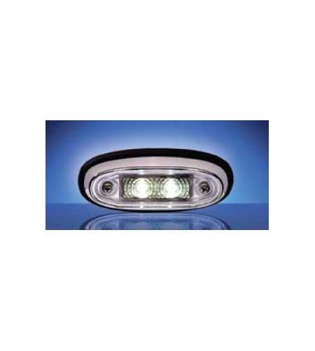 3105 - LED Markeringslamp Chroom Blank - 1001-3105-C - Lighting - Unspecified