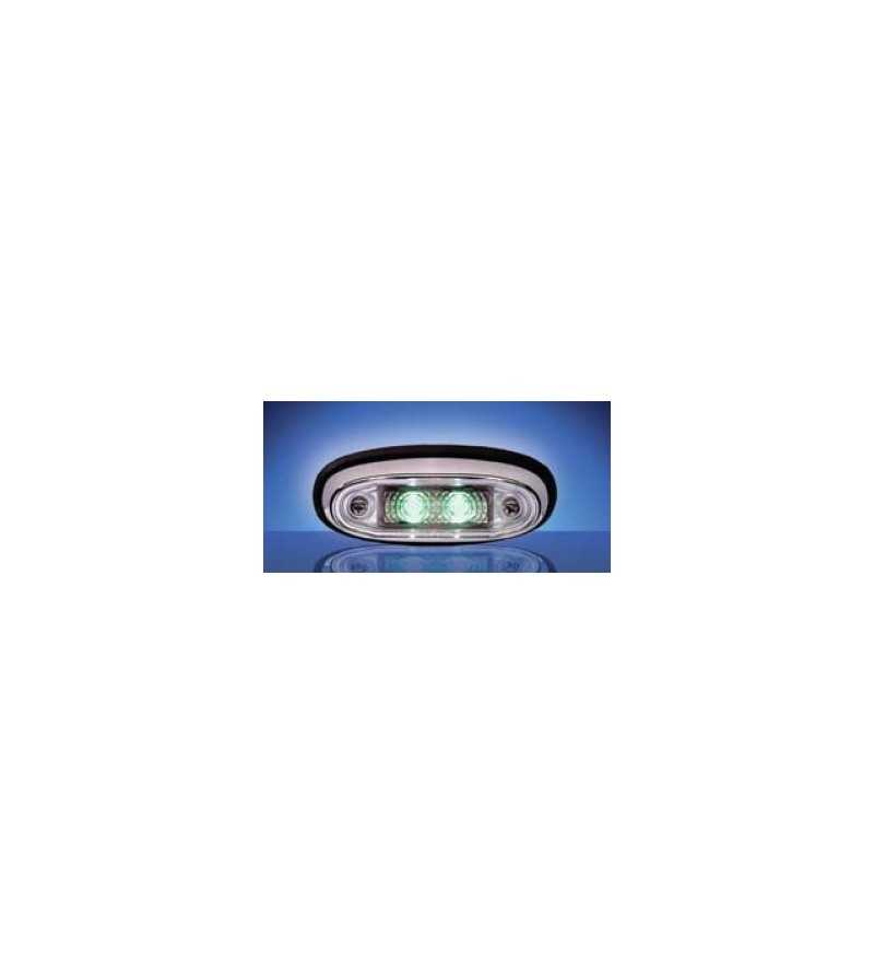 3105 - LED Markeringslamp Chroom Groen