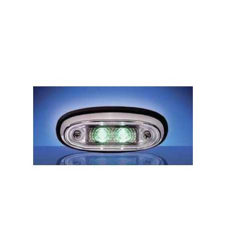 3105 - LED Markeringslamp Chroom Groen - 1001-3105-G - Lighting - Unspecified
