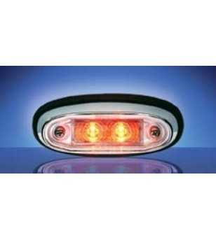 3105 - LED Markeringslamp Chroom Rood - 1001-3105-R - Verlichting - Unspecified