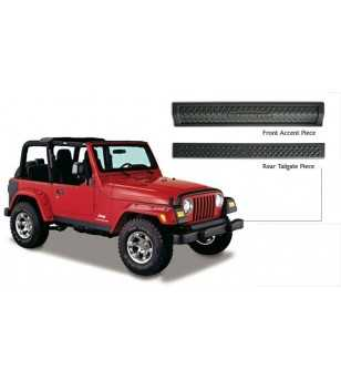 Jeep Wrangler Tj 1997-2006 Trail Armor Front Accent Piece & Rear Tailgate Piece - 14003 - Other accessories - Unspecified - Vers