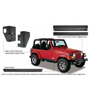 Jeep Wrangler Tj 1997-2006 Trail Armor Pair Bushwacker Style - 14901 - Other accessories - Unspecified