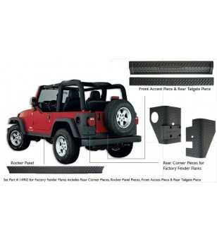 Jeep Wrangler Tj 1997-2006 Trail Armor Pair - 14902 - Other accessories - Unspecified