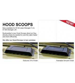 Jeep Wrangler Tj 1997-2006 Trail Armor Hood Scoops Textured