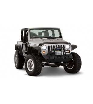 Jeep Wrangler JK 2007- Flat Style Fender Flares 9.5 inch tire coverage - 2DR