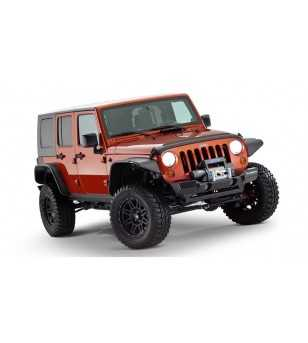 Jeep Wrangler JK 2007- Flat Style Fender Flares 9.5 inch tire coverage - 4DR