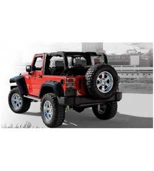 Jeep Wrangler JK 2007- Pocket Style Fender Flares 11.75 inch tire coverage - 2DR Rear fenders