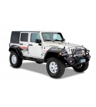 Jeep Wrangler JK 2007- Pocket Style Fender Flares 11.75 inch tire coverage - 4DR Rear fenders