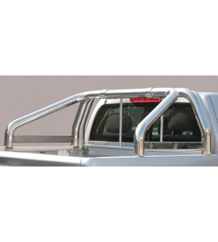 Nissan King Cab 2002-2005 Roll Bar on Tonneau  - 2 pipes inscripted - RLSS/K/286/IX - Rollbars / Sportsbars - Unspecified - Vers