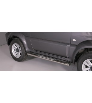 Suzuki Jimny 2012- Design Side Protection Oval - DSP/335/IX - Sidebar / Sidestep - Unspecified