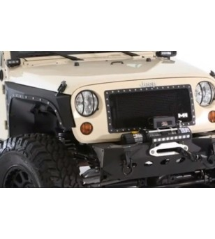 Jeep Wrangler Unlimited 2007- M1 Truck Grille Black - 615850 - Grille - Unspecified - Verstralershop