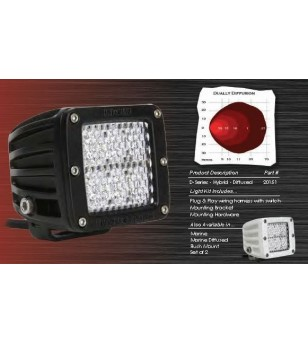 "Rigid D-Series 3"" LED Hybrid Diffusion set blank mist - 20251 - Verlichting - Verstralershop"