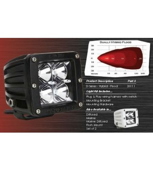 "Rigid D-Series 3"" LED Hybrid blank - 20111 - Verlichting - Verstralershop"