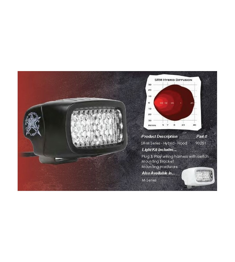 "Rigid SRM-Series 3"" LED Hybrid diffusion clear fog - 90251 - Lighting - Rigid SR-M series - Verstralershop"