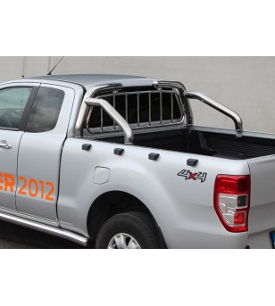FORD RANGER 12+ OVERROLLS 76mm with protection grille set - 806970 - Rollbars / Sportsbars - Verstralershop