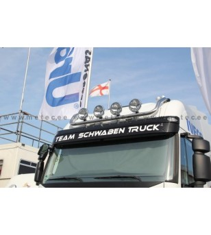 IVECO STRALIS 02+ LAMP HOLDER ROOF AS CUBE + HIGHWAY 4x lamp fixings pcs - 852370 - Roofbar / Roofrails - Metec Truck