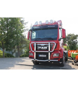 MAN TGS 07+ TRUCK CATTLEGUARD for construction truck Euro6 2013+ pcs - 854540 - Bullbar / Lightbar / Bumperbar - Metec Truck