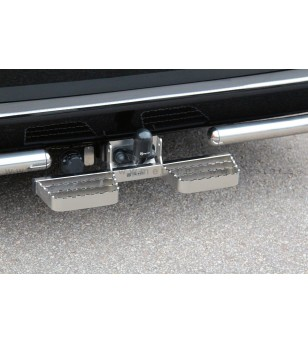 PEUGEOT BOXER 07+ RUNNING BOARDS to tow bar pcs SMALL - 888419 - Rearbar / Opstap - Metec Van