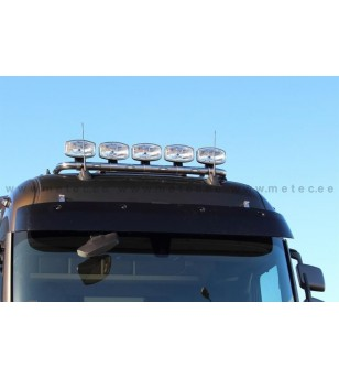 RENAULT T 14+ LAMP HOLDER ROOFTOP with clamps High 5x lamp fixings cable LED pcs - 862301 - Roofbar / Roofrails - Metec Truck