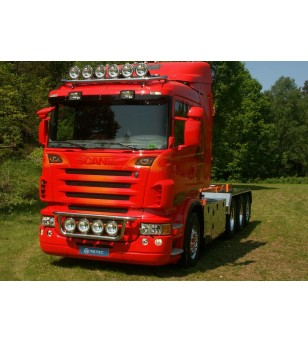 SCANIA R Serie 04 to 09 LAMP HOLDER FRONT step 380mm 4x lamp fixings cable pcs - 864181 - Bullbar / Lightbar / Bumperbar - Metec