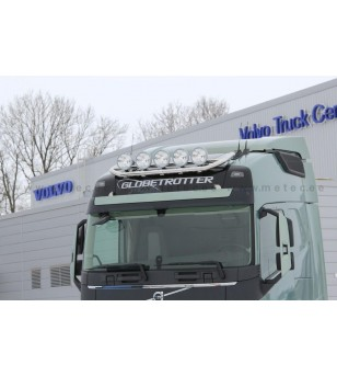 VOLVO FH 13+ LAMP HOLDER ROOFTOP with clamps GLOBE + GLOBE XL 5x lamp fixings cable pcs - 868610 - Roofbar / Roofrails - Metec T