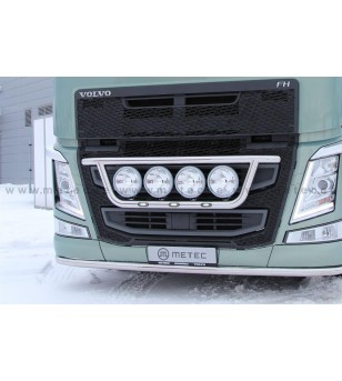 VOLVO FH 13+ LAMP HOLDER FRONT CLASSIC 4x lamp fixings cable LED pcs - 888595FH - Bullbar / Lightbar / Bumperbar - Metec Truck -