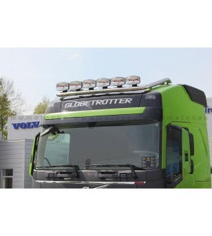 VOLVO FH 13+ LAMP HOLDER ROOFTOP 6 with clamps GLOBE + GLOBE XL 6x lamp fixings cable pcs - 868612 - Roofbar / Roofrails - Metec