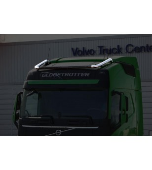VOLVO FH 13+ LAMP HOLDER ROOFAERO Installation details for 888588 cable LED - 868653 - Roofbar / Roofrails - Metec Truck
